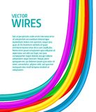 Abstract colorful curly wires Royalty Free Stock Images