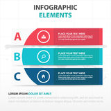 Abstract colorful curve banner business Infographics elements, presentation template flat design vector illustration royalty free illustration