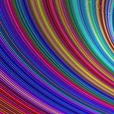 Abstract colorful curved stripe background Royalty Free Stock Images