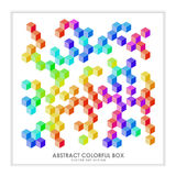 Abstract colorful 3d box vector art design Royalty Free Stock Photo