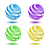 Abstract colorful 3D globe background Stock Images