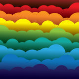 Abstract colorful 3d paper clouds background (backdrop) Stock Photos