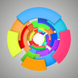 Abstract colorful 3d rainbow, logo design Stock Photography