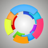 Abstract colorful 3d rainbow, logo design Stock Image