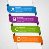 Abstract Colorful 3D Ribbons Infographic. Royalty Free Stock Image