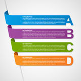 Abstract Colorful 3D Ribbons Infographic. Design element. Vector illustration Royalty Free Stock Images