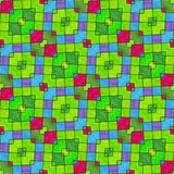 Abstract colorful decorative oblique mosaic seamless pattern Stock Photo