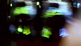 Abstract colorful defocused overlay video. Green lights stock footage