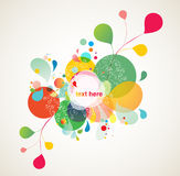 Abstract colorful design. Colorful background elements, abstract design Royalty Free Stock Image