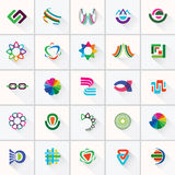 Abstract colorful design elements and icon. Stock Image