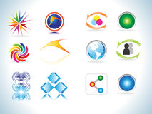 Abstract colorful design elements icons. Vector illustration Royalty Free Stock Photos