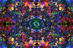 Abstract colorful design with flower. Computer art. Royalty Free Stock Photography