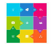 Abstract colorful design with square shapes Stock Photo