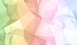 Abstract colorful digital 3d polygonal surface Stock Images