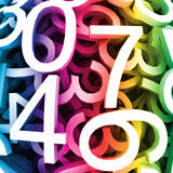 Abstract colorful digital numbers. Vector Stock Photography