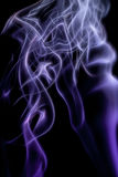 Abstraction of smoke in purple and black Royalty Free Stock Photos