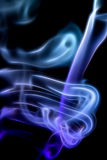 Abstractions in smoke on black Royalty Free Stock Photography