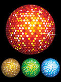 Abstract colorful disco balls set. Vector illustration Royalty Free Stock Photo