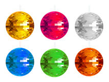 Abstract colorful disco balls set Stock Photos
