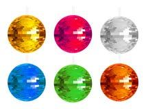 Abstract colorful disco balls set. Illustration Stock Photos