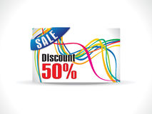 Abstract colorful discount card template Royalty Free Stock Photos