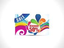 Abstract colorful discount card Royalty Free Stock Images