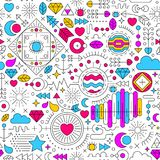 Abstract colorful doodle background Royalty Free Stock Images