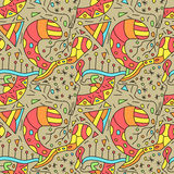Abstract colorful doodle pattern stock images