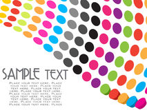 Abstract colorful dots background Royalty Free Stock Photography