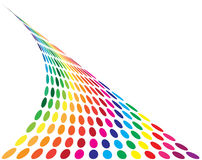Abstract colorful dotted background Royalty Free Stock Photography