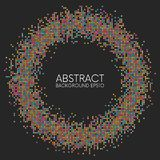 Abstract colorful dotted circle frame Royalty Free Stock Image