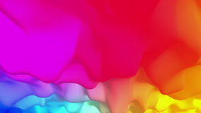 Abstract colorful drapery fluttering in the wind, 3D animation, seamless. Computer-generated footage depicting the abstract cloth stock footage