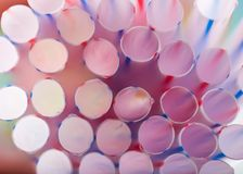 Abstract of colorful drink straws Stock Photos