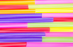 Abstract colorful drinking straws Stock Photography