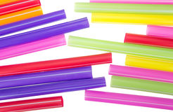 Abstract colorful drinking straws Stock Images