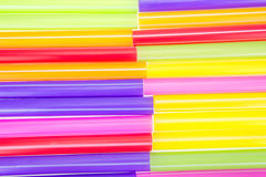 Abstract colorful drinking straws Royalty Free Stock Photos