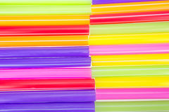 Abstract colorful drinking straws Stock Photo