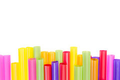 Abstract colorful drinking straws Stock Image
