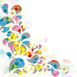 Abstract colorful drop background Royalty Free Stock Photography