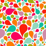 Abstract colorful drop background. Seamless pattern, vector Royalty Free Stock Photo