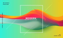 Abstract colorful dynamic wave background royalty free illustration