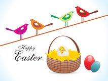 Abstract colorful easter birds wallpaper Stock Photos