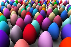 Abstract colorful easter eggs background 3D rendering Royalty Free Stock Photo