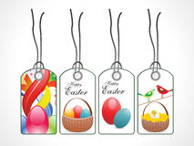 Abstract colorful easter tags Royalty Free Stock Image