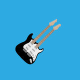 Abstract Colorful Electric Guitar Isolated On Color Background. Vector Abstract Colorful Electric Guitar Isolated On Color Background Royalty Free Stock Image