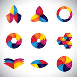 Abstract colorful element design vector icons Stock Photo