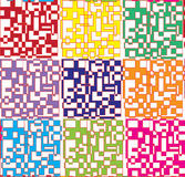 Abstract colorful elements pattern Royalty Free Stock Photos