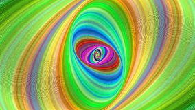 Abstract colorful ellipse spiral background - seamless loop. Motion graphic design stock footage