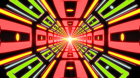 Abstract colorful endless corridor of identical elements Royalty Free Stock Photography
