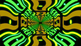 Abstract colorful endless corridor of identical elements Stock Images